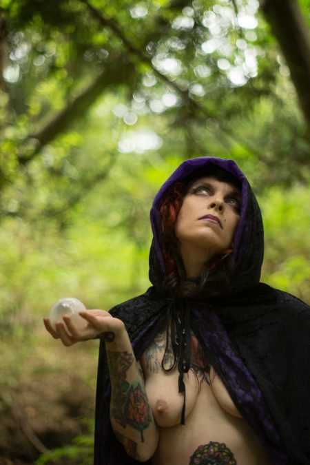 witch Ginni Fier nude in the forest by Deneot Foto